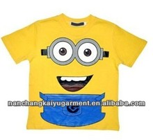 Cartoon Despicable Me Minions Short Sleeve Girl's T-shirt