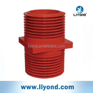 Epoxy resin insulator isolated screen wall bushing