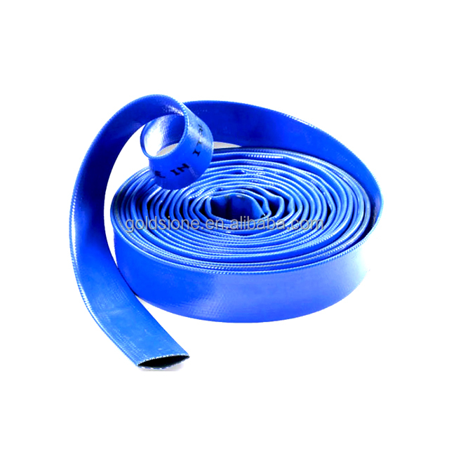 blue color agriculture water hose PVC lay flat hose 1 inch diameter PVC soft tube from china supplier 1 inch irrigation hose