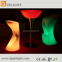 Outdoor 16 color illuminated table for sales/ led pool table light/ plastic led lighting bar counter