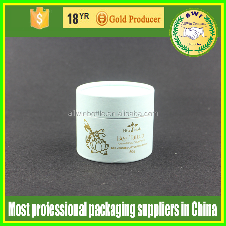 embossed surface kraft paper tube rolling up box tin paper box