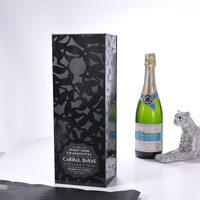 Wine gift box with hard carton For high quality Glossy finish