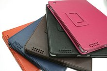 hot sales folding lichee pattern leather case for ipad2