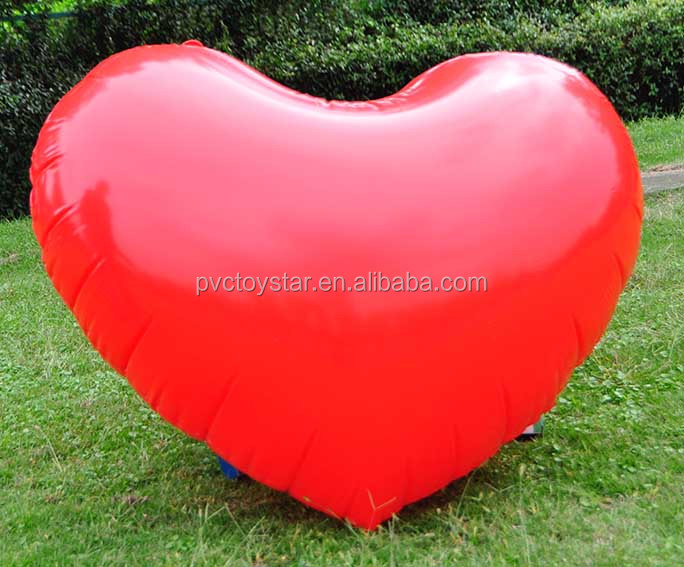 Hot-sale wedding valentine decoration inflatable red heart