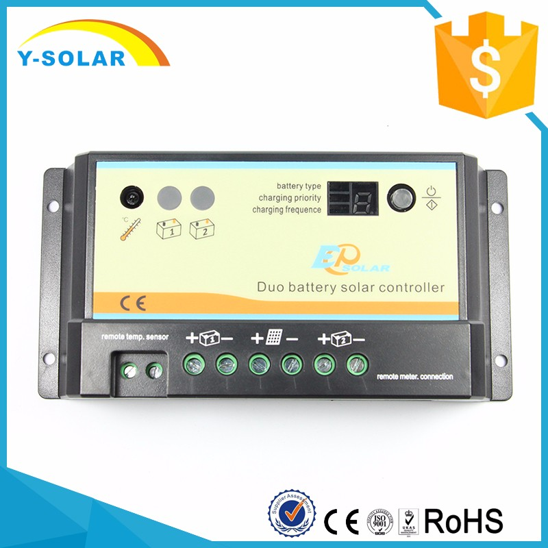 Y-SOLAR Top Grade Discount LED PWM Duo Battery Solar Controller