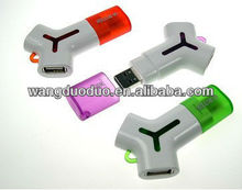2013 multifunction three usb mouths 4gb 8gb usb flash drive