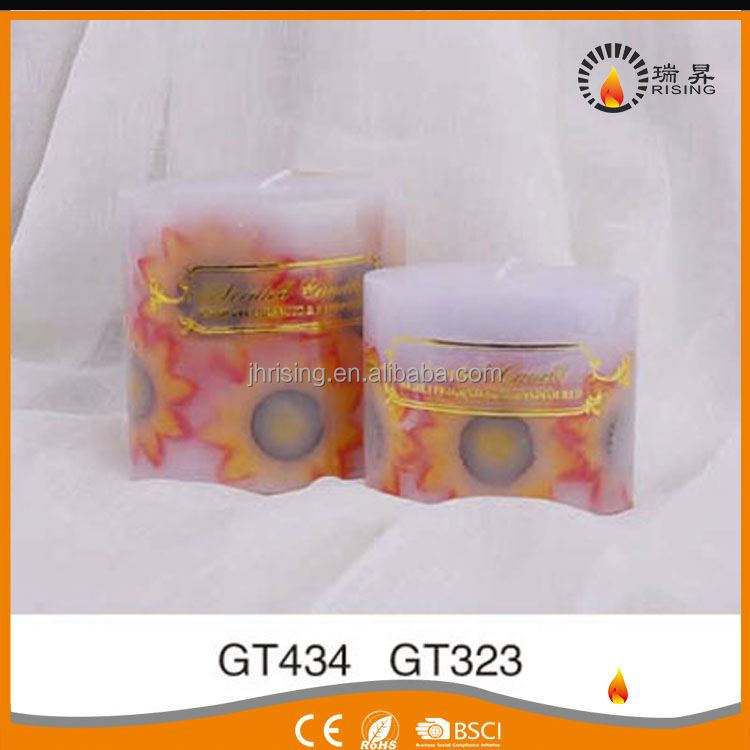 RISING handmade paffin wax buring art scented candles with customize logo