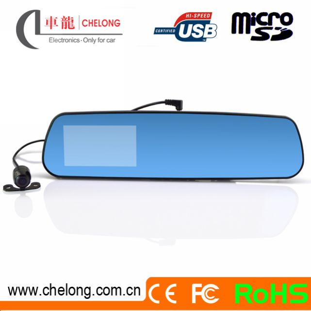 Newest Android 4.0.3 350deg rotating lens GPS Bluetooth Wifi rearview mirrors cover