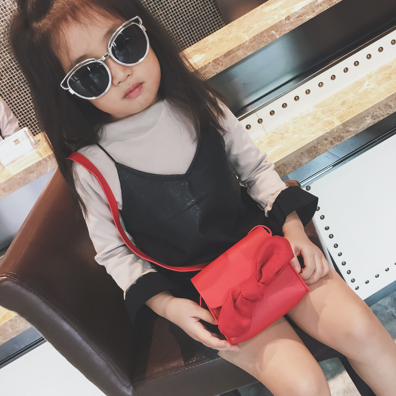 Cute Bows Bags Handbags Kids Children Cute Girls Korean Style Shoulder Handbags