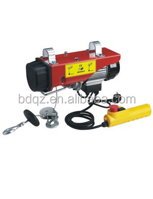 400kg PA Type Mini Electric Wire Rope Hoist 500kg Electric winch