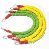New product colored elastic rope cord, fabric stretching bungee cords with carabiner