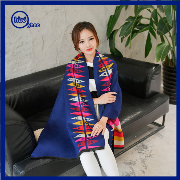 Yhao 2016 Hot Sale Wool Cashmere Shawl Scarf