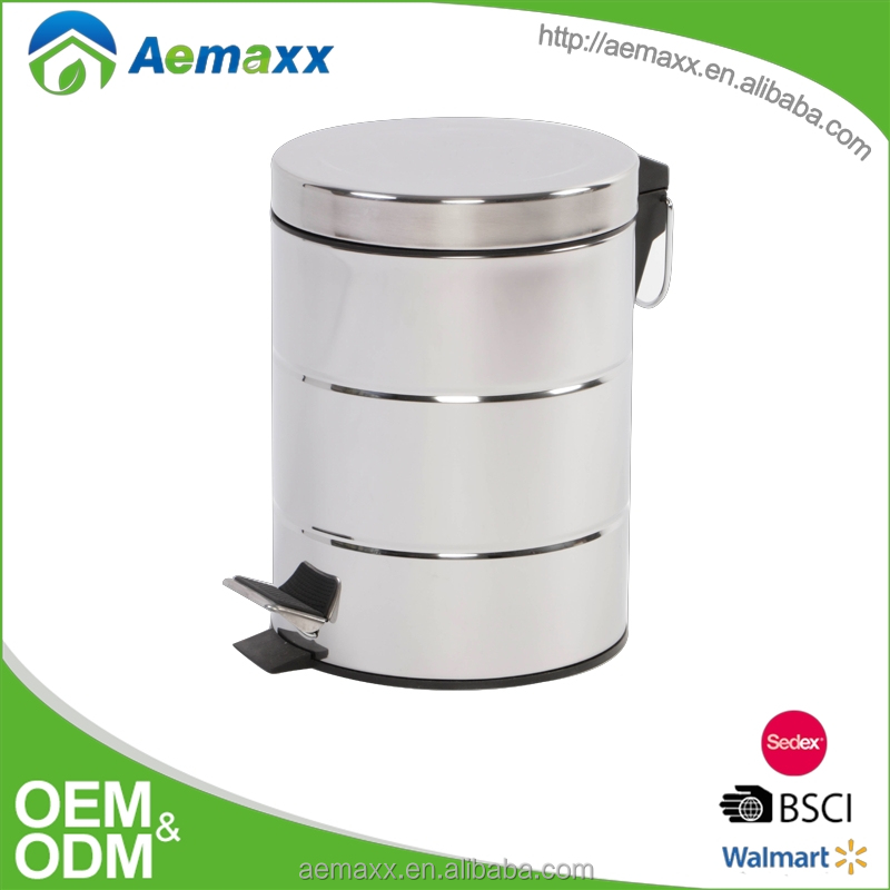 HDB-12004 online shopping stainless steel dustbin with foot pedal struction