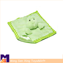 Animal head shape soft cute baby security blankets