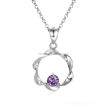 Flower of Life Pendant Sterling Silver 925 Crystal Necklace SPG829W