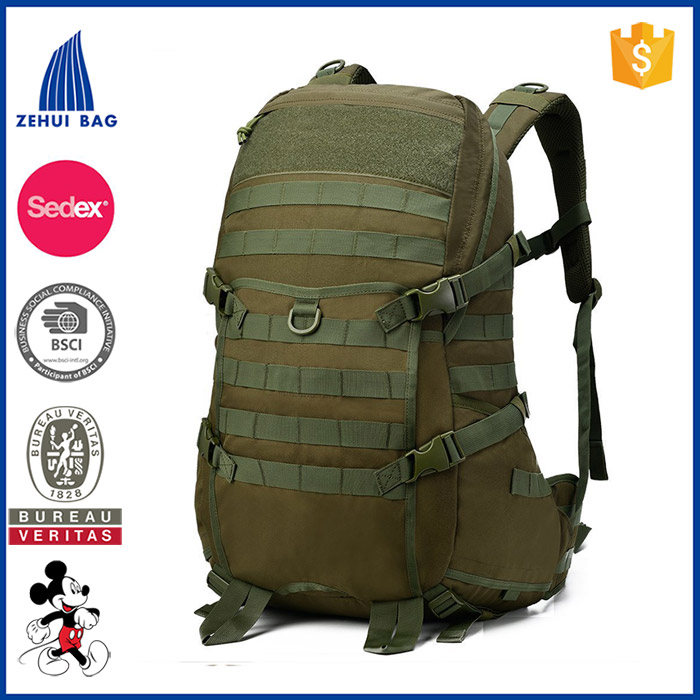 factory wholesale QuanZhou 1000D waterproof outdoor backpack multipurpose black molle military hot sale nylon backpack outdoor