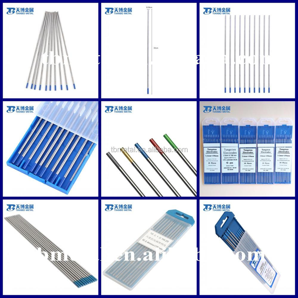 Types Of Tungsten Electrode Tig Welding Materials Rod Wt20 Diagram Electrodes Rods