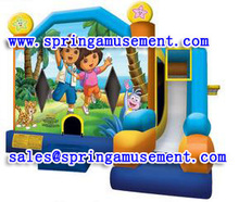 Dora & Diego Combo inflatable castle with slide SP-C7006