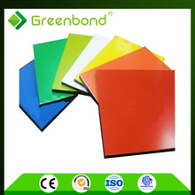 Greenbond interior wall home decoration items brushed aluminum composite panel