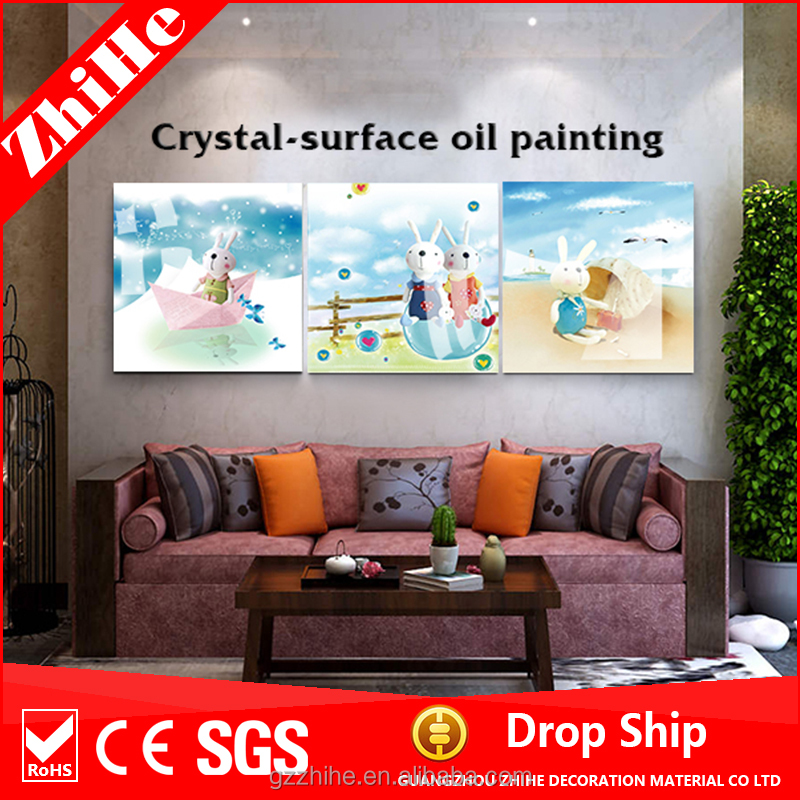 wholesale wall painting with animal oil painting of home decoration to kids bedroom