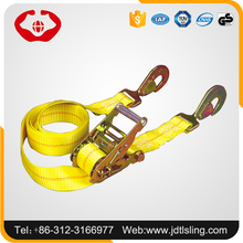 Factory tested report 1 ton-10 ton container straps safety webbing belt with customized hook