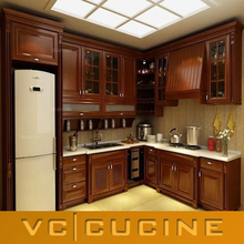 Foshan easy fitted classic style wooden kitchen furniture