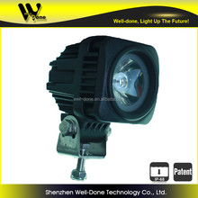 6000K color temperature great white led driving lights for motorcycle auxiliary lighting