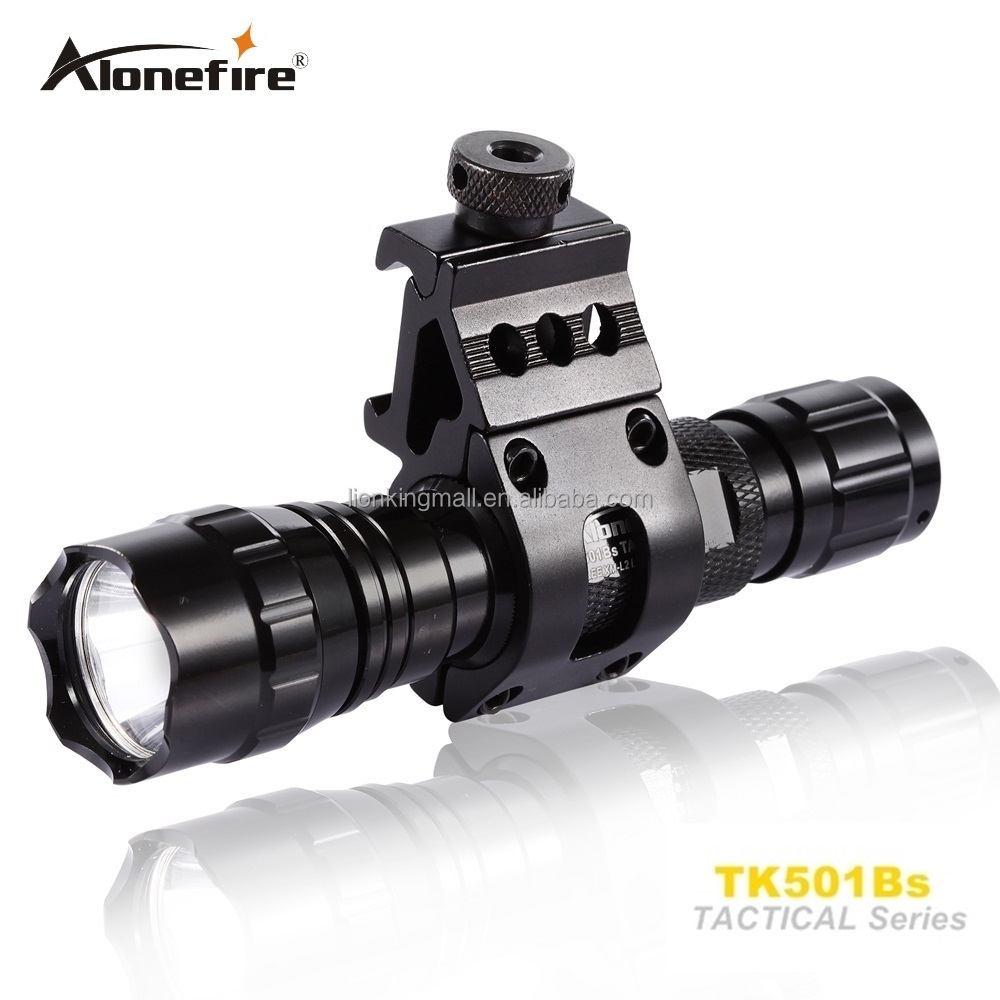 501B Tactical Flashlight 2000 lumens T6 1mode Hunting Rifle Torch Shotgun lighting Shot Gun Mount+Tactical mount+Remote switch