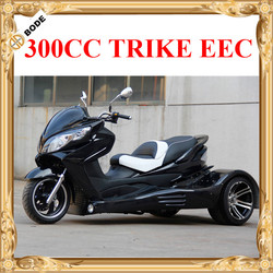 Gas 3 Wheel Motorcycle Trike Scooter with CVT Clutch Automatic Gears