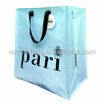Shoulder tote bag handled pp non woven bag with zipper