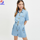 New product 2019 summer adult denim utility women romper