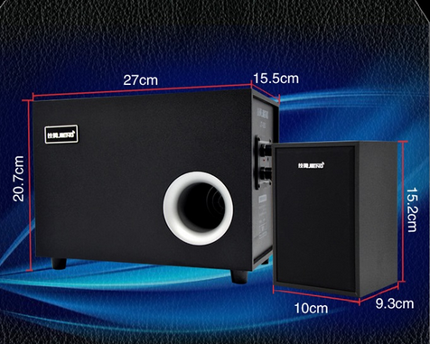 2016 Good sound Shenzhen 2.1 USB subwoofer computer speakers 2.1 speaker,computer subwoofer speaker