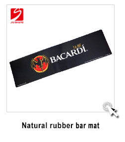 PVC beer drip rail shape rubber jameson bar mat for clud