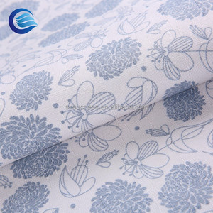 home textile linen sublimation printed polyester fabric printed curtain fabric