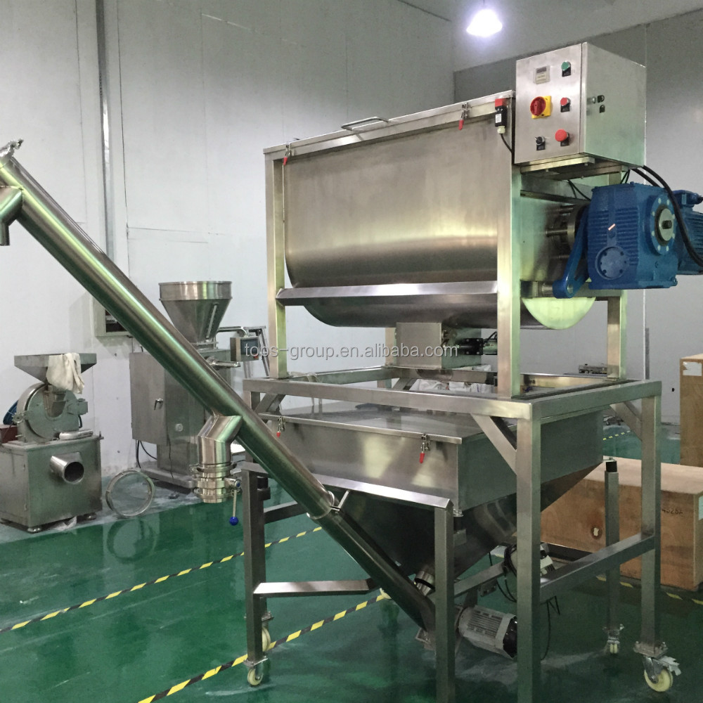 horizontal animal ribbon blender dry poultry cattle feed mixer, powder mixer, blender mixer