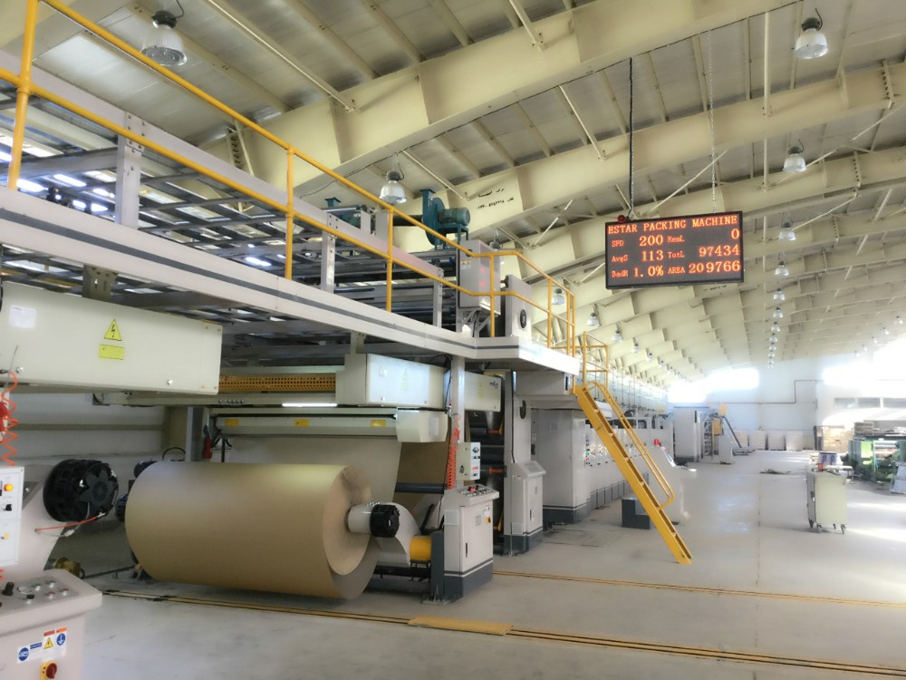 ESTARPACK Automatic Corrugated Cardboard Production Line Carton Packaging Machine