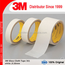 Seals and insulates high temperature ducts and chambers permanently Glass Cloth Tape 3M 361