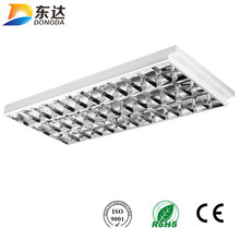 new design T8 mirror reflector led grille louver fitting fluorescent office ceiling light fixture