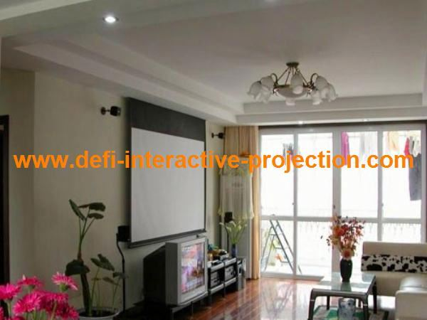 Top quality home theater system rear projector screen
