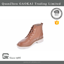 Unique design women winter ankle boots with action leather