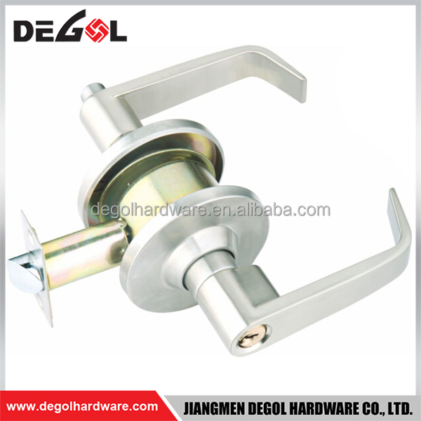 American style zinc alloy lever handle cylindrical door lock
