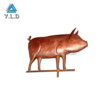 High-end Quality Sheet Metal Fabrication Custom Copper Stamping Pig Shaped Artwares