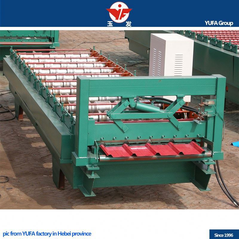 power 5.5KW roofing used cold rolling steel rof making machine