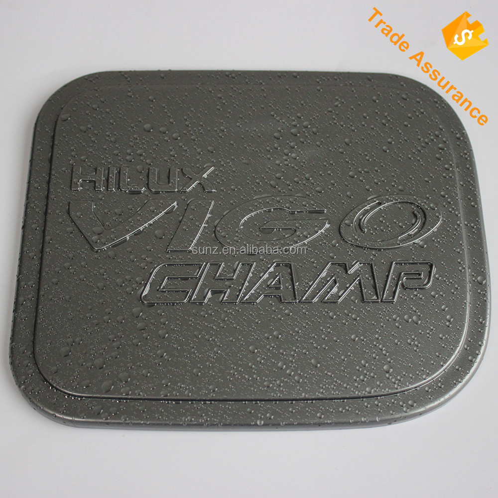 3D Gray color toyota hilux accessories ABS fuel tank cap cover fit for toyota hilux vigo 2012 2013 2014 car parts