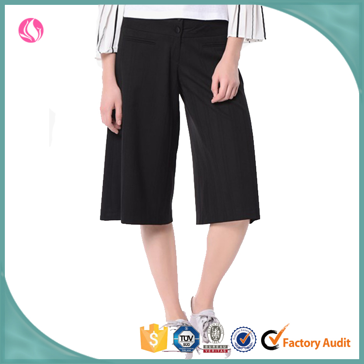 2016 Office Lady Wide Leg Chiffon Short Pants Loose Woman Fancy Pants