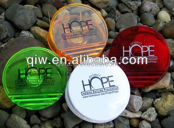 Promotional round shaped plastic magnet clip