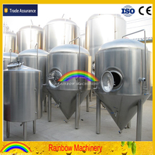 2000L Beer fermentation tank, insulated jacket conical beer tanks for cerveza fermentation