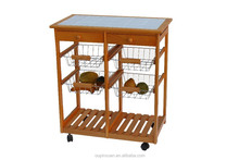New product bamboo buffet car.hotel dining trolley,Hotel dinner car