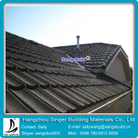 natural stone coated metal roofing tiles