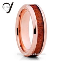 Superman tungsten firefighter wedding rings with fashion wooden resin ring
